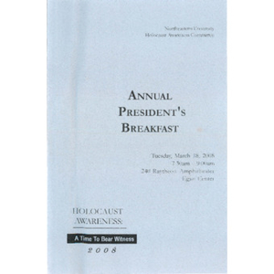 Annual President's Breakfast program, 2008.