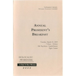 Annual President's Breakfast, 2009.