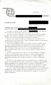 Press statement from group of concerned women, 1974 October 18