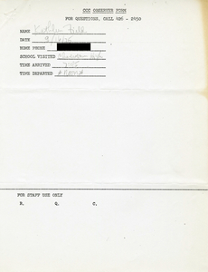 Citywide Coordinating Council daily monitoring report for Charlestown High School by Kathleen Field, 1975 September 16