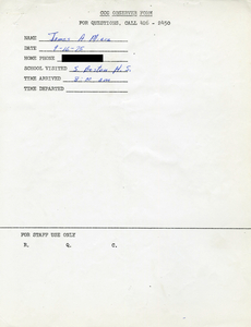 Citywide Coordinating Council daily monitoring report for South Boston High School by James A. Miara, 1975 September 16