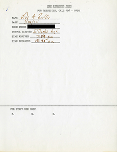 Citywide Coordinating Council daily monitoring report for South Boston High School by Lee A. Fields, 1975 September 26