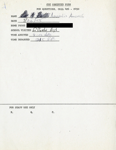 Citywide Coordinating Council daily monitoring report for South Boston High School by Amarilis Amoros, 1975 September 26