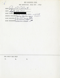 Citywide Coordinating Council daily monitoring report for South Boston High School and its L Street Annex by Paul A. Colbert, 1975 September 29