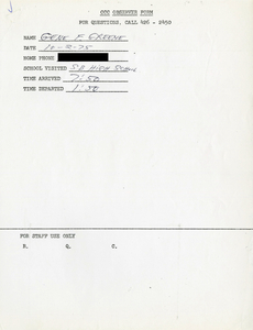 Citywide Coordinating Council daily monitoring report for South Boston High School by Gene F. Greene, 1975 October 2