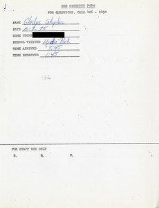 Citywide Coordinating Council daily monitoring report for Hyde Park High School by Gladys Staples, 1975 October 7
