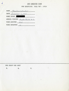 Citywide Coordinating Council daily monitoring report for Hyde Park High School by Marilee Wheeler, 1975 October 6