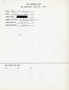 Citywide Coordinating Council daily monitoring report for South Boston High School by James A. Miara, 1975 October 7