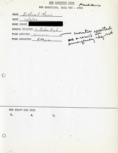 Citywide Coordinating Council daily monitoring report for South Boston High School by D. Kermit Norris, 1975 October 8