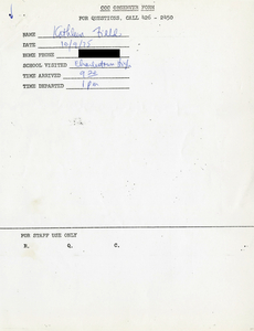 Citywide Coordinating Council daily monitoring report for Charlestown High School by Kathleen Field, 1975 October 9