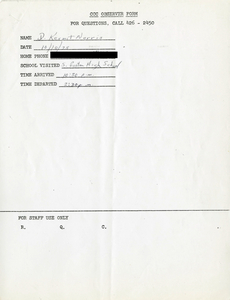 Citywide Coordinating Council daily monitoring report for South Boston High School by D. Kermit Norris, 1975 October 10