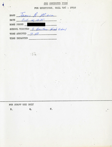 Citywide Coordinating Council daily monitoring report for South Boston High School by James A. Miara, 1975 October 14