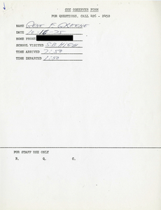 Citywide Coordinating Council daily monitoring report for South Boston High School by Gene R. Greene, 1975 October 16