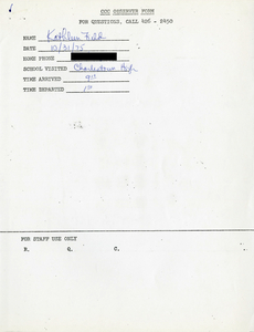 Citywide Coordinating Council daily monitoring report for Charlestown High School by Kathleen Field, 1975 October 31