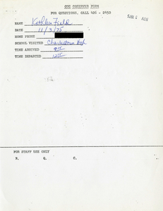 Citywide Coordinating Council daily monitoring report for Charlestown High School by Kathleen Field, 1975 November 3