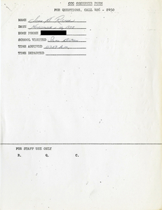 Citywide Coordinating Council daily monitoring report for South Boston High School by John M. Ricker, 1975 November 10