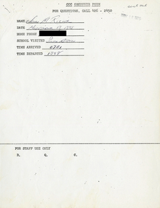 Citywide Coordinating Council daily monitoring report for South Boston High School by John M. Ricker, 1975 November 17
