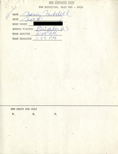 Citywide Coordinating Council daily monitoring report for Brighton High School by Nancy Mitchell, 1975 November 21