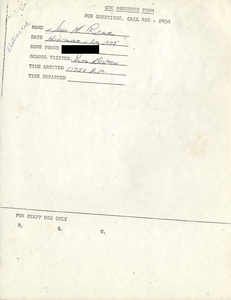 Citywide Coordinating Council daily monitoring report for South Boston High School by John M. Ricker, 1975 November 24