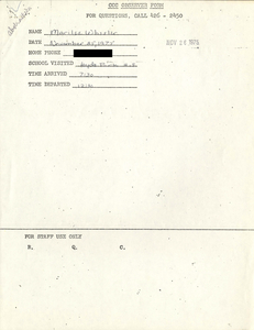 Citywide Coordinating Council daily monitoring report for Hyde Park High School by Marilee Wheeler, 1975 November 25