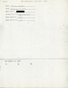 Citywide Coordinating Council daily monitoring report for Hyde Park High School by Marilee Wheeler, 1975 December 8