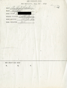 Citywide Coordinating Council daily monitoring report for Charlestown High School by Anthony Banks, 1975 December 8