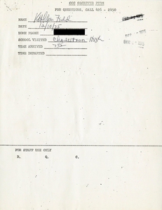 Citywide Coordinating Council daily monitoring report for Charlestown High School by Kathleen Field, 1975 December 10