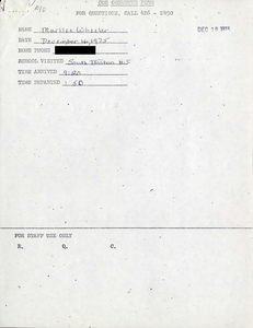 Citywide Coordinating Council daily monitoring report for South Boston High School by Marilee Wheeler, 1975 December 16