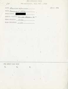 Citywide Coordinating Council daily monitoring report for South Boston High School by Marilee Wheeler, 1976 January 5