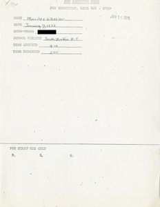 Citywide Coordinating Council daily monitoring report for South Boston High School by Marilee Wheeler, 1976 January 7