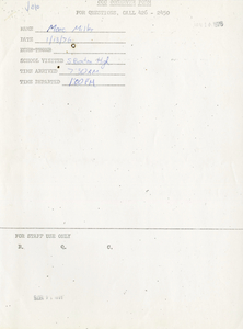 Citywide Coordinating Council daily monitoring report for South Boston High School by Marc Miller, 1976 January 13