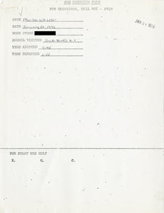 Citywide Coordinating Council daily monitoring report for South Boston High School by Marilee Wheeler, 1976 January 20