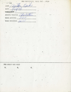 Citywide Coordinating Council daily monitoring report for Charlestown High School by Anthony Banks, 1976 January 20