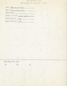 Citywide Coordinating Council daily monitoring report for South Boston High School by Marilee Wheeler, 1976 January 26