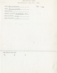 Citywide Coordinating Council daily monitoring report for South Boston High School by Marilee Wheeler, 1976 January 27