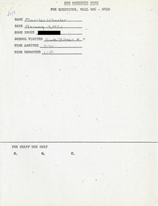 Citywide Coordinating Council daily monitoring report for South Boston High School by Marilee Wheeler, 1976 February 3