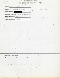 Citywide Coordinating Council daily monitoring report for South Boston High School by Marilee Wheeler, 1976 February 5