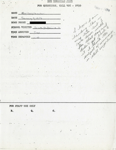 Citywide Coordinating Council daily monitoring report for South Boston High School by Marilee Wheeler, 1976 February 9