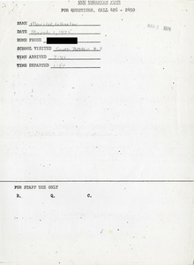 Citywide Coordinating Council daily monitoring report for South Boston High School by Marilee Wheeler, 1976 March 1