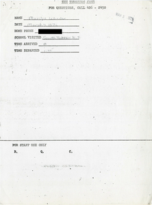 Citywide Coordinating Council daily monitoring report for South Boston High School by Marilee Wheeler, 1976 March 4
