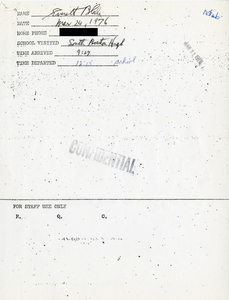 Citywide Coordinating Council daily monitoring report for South Boston High School by Everett Blake, 1976 March 24