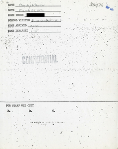 Citywide Coordinating Council daily monitoring report for South Boston High School by Marilee Wheeler, 1976 March 25