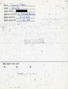 Citywide Coordinating Council daily monitoring report for South Boston High School by Don L. Tracy, 1976 March 26