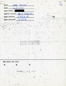 Citywide Coordinating Council daily monitoring report for South Boston High School by Marc Miller, 1976 March 31