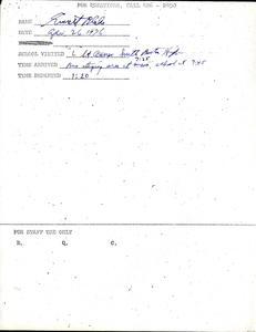 Citywide Coordinating Council daily monitoring report for South Boston High School's L Street Annex by Everett Blake, 1976 April 26