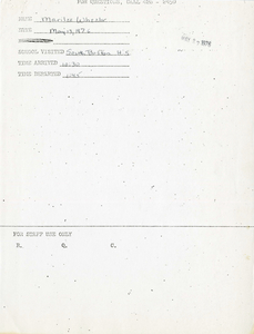 Citywide Coordinating Council daily monitoring report for South Boston High School by Marilee Wheeler, 1976 May 13