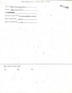 Citywide Coordinating Council daily monitoring report for South Boston High School by Marilee Wheeler, 1976 April 27