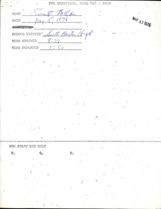 Citywide Coordinating Council daily monitoring report for South Boston High School by Everett Blake, 1976 May 5