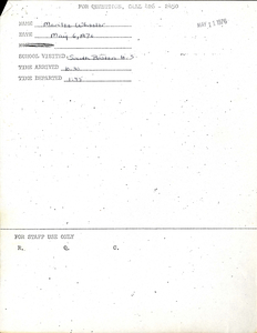 Citywide Coordinating Council daily monitoring report for South Boston High School by Marilee Wheeler, 1976 May 6