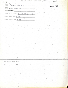 Citywide Coordinating Council daily monitoring report for South Boston High School by Marilee Wheeler, 1976 May 10